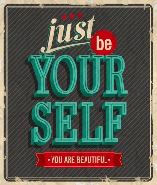 Vintage card - Just be your self.