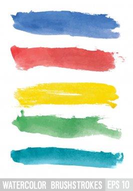 Watercolor brush stroke. Vector illustration. clip art vector