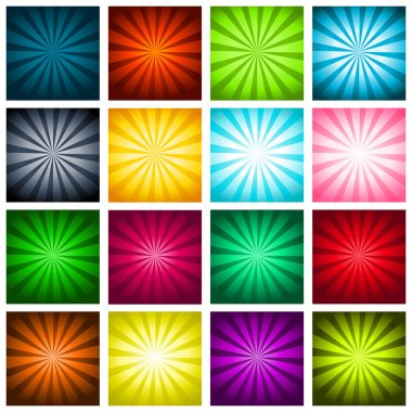Colorful Bursting Backgrounds