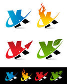 Fényképek Swoosh ábécé ikonok K