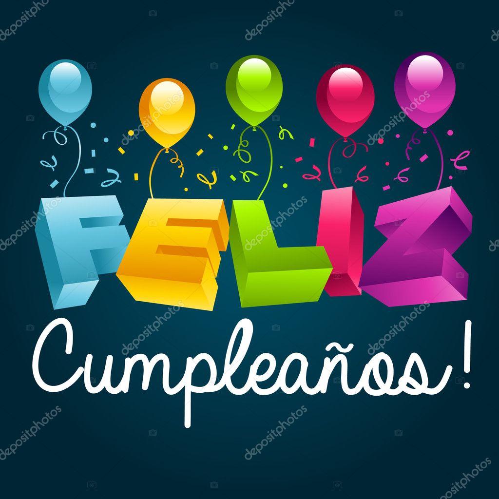 grattis på födelsedagen på spanska Grattis på födelsedagen i spanska — Stock Vektor © Mictoon #22478213 grattis på födelsedagen på spanska