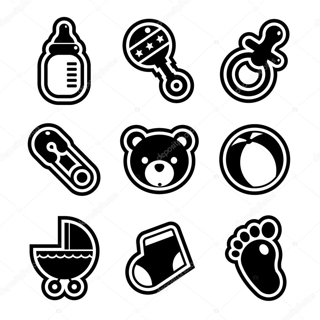 Baby shower icons stock vector mictoon 26424391 baby shower icons stock vector buycottarizona Gallery