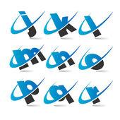 Fotografia Swoosh set di icone piccole lettere 2