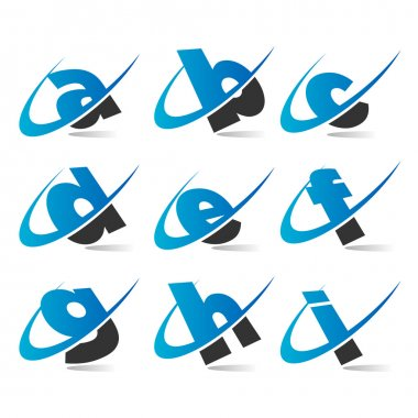 Swoosh Small Letters Icons Set 1