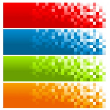 Colorful Pixel Banners