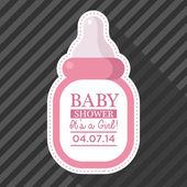 Fotografie Pink Baby Bottle Card