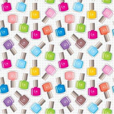 Seamless nail polish pattern