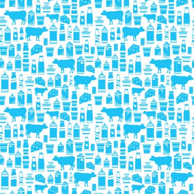 Seamless dairy products pattern