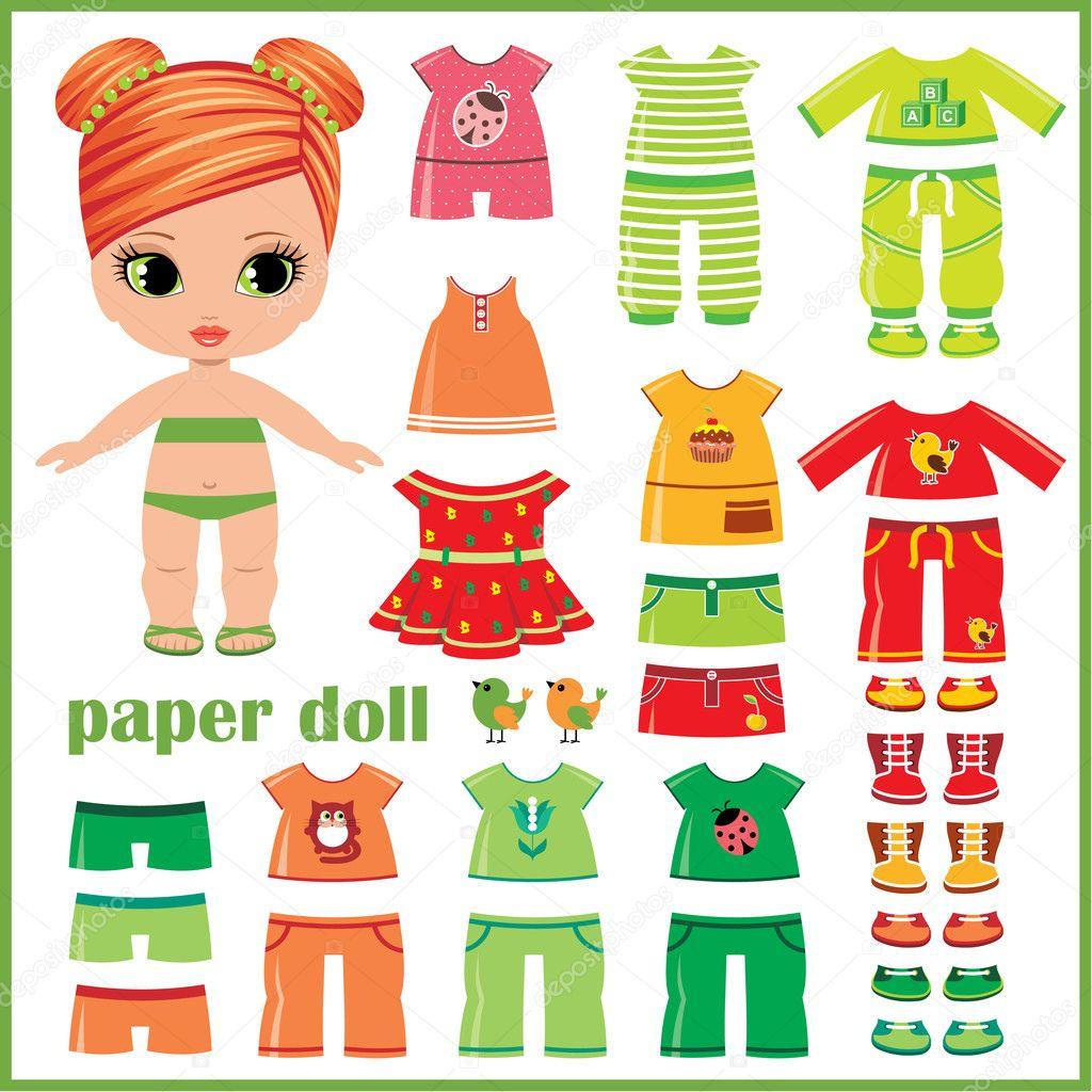 paper dolls clothing
