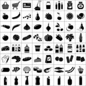 Fotografie Set of supermarket symbols