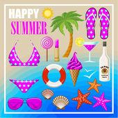 Letní pláž sada