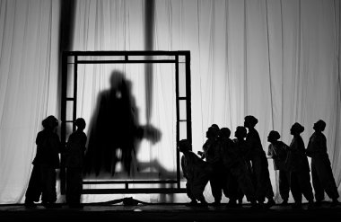 Silhouette of chinese opera actors