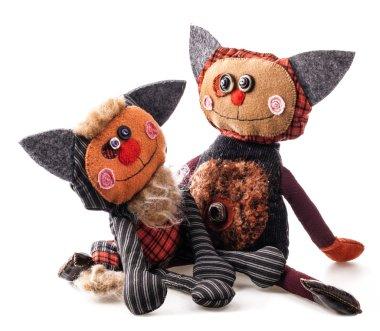 Handmade rag doll Cute Cats