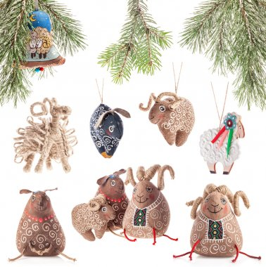 Collection of Christmas decoration - sheeps