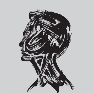 Human head thinking.
