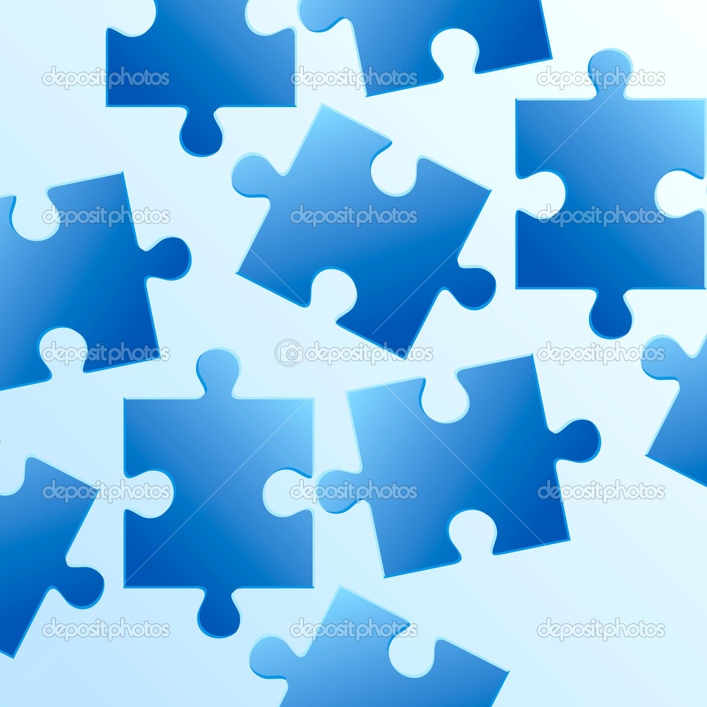 piezas del puzzle azul — Archivo Imágenes Vectoriales © arrtfoto ...