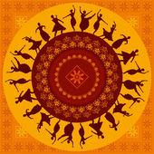 Indický klasický tanečník