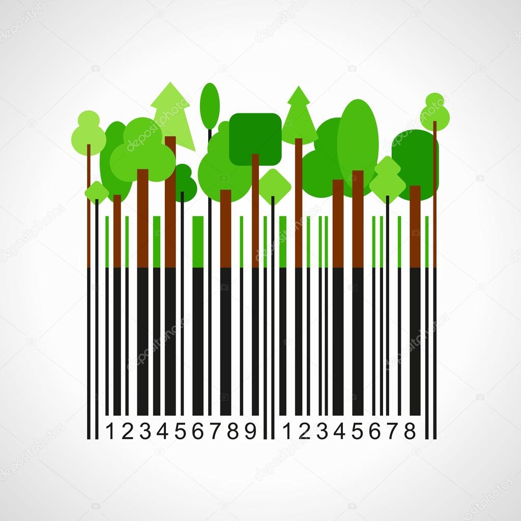 Bar-code with forest