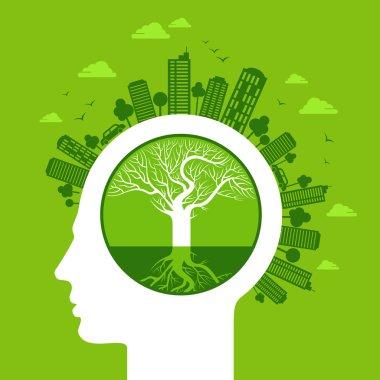 Eco concept in head