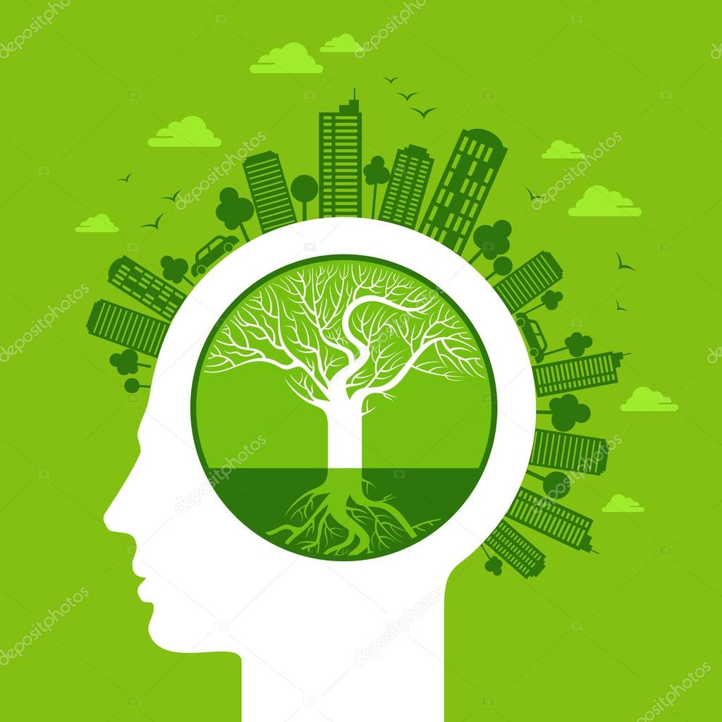 Eco concept in head