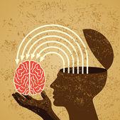 nápad s lidský mozek
