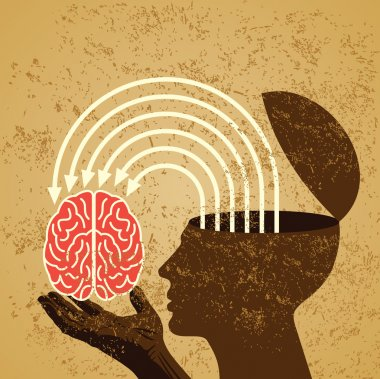 Idea with human brain