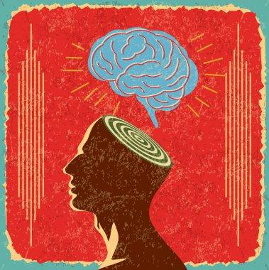 Idea with human brain