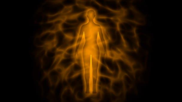 silueta lidské aury - žena