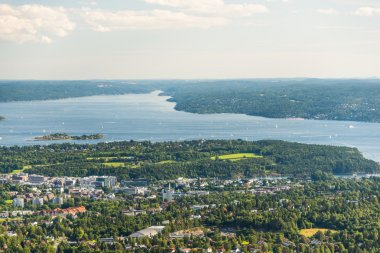 Panorama view of Oslo fjord