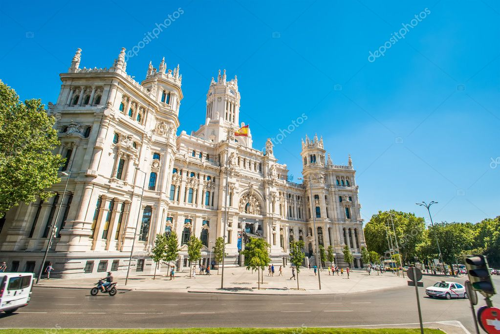 Plaza de la Cibeles in Madrid Spain