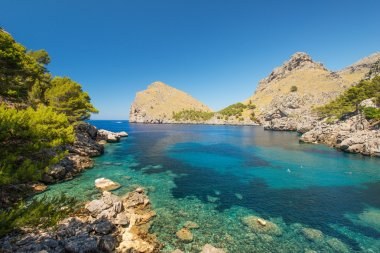 Blue lagoon at coast of Mallorca, Balearic islands