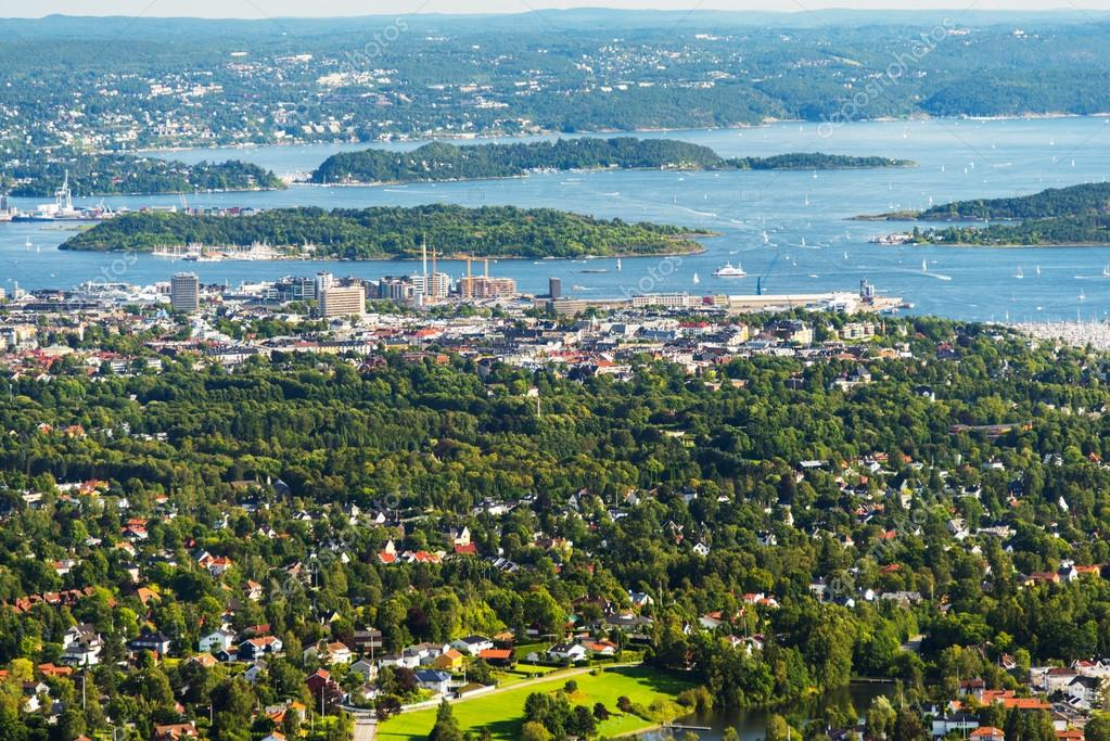 Panorama view of Oslo