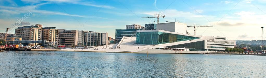 Panorama view on Oslo Opera House Norway