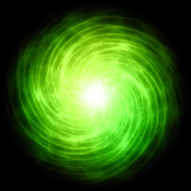Enargy ball green spiral