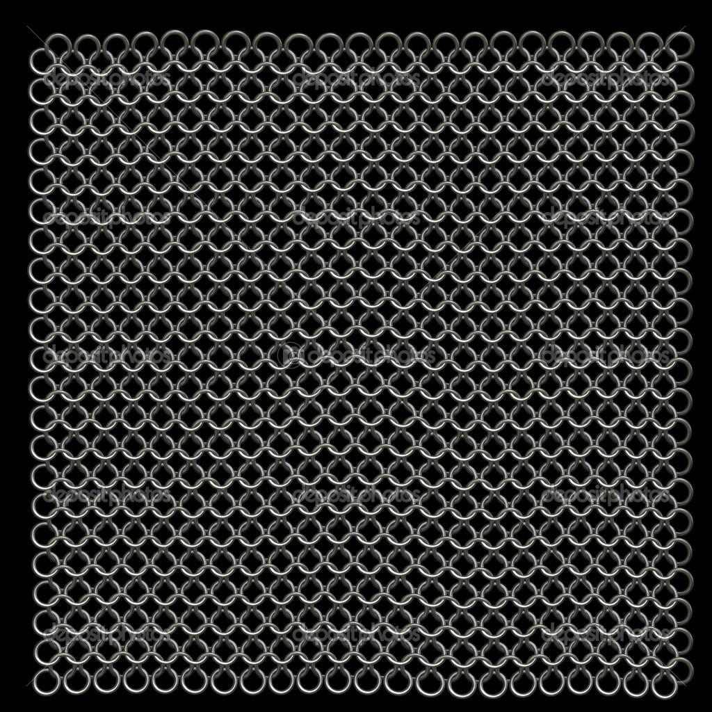 computadora genera la cota de malla metálica textura — Foto de stock ...