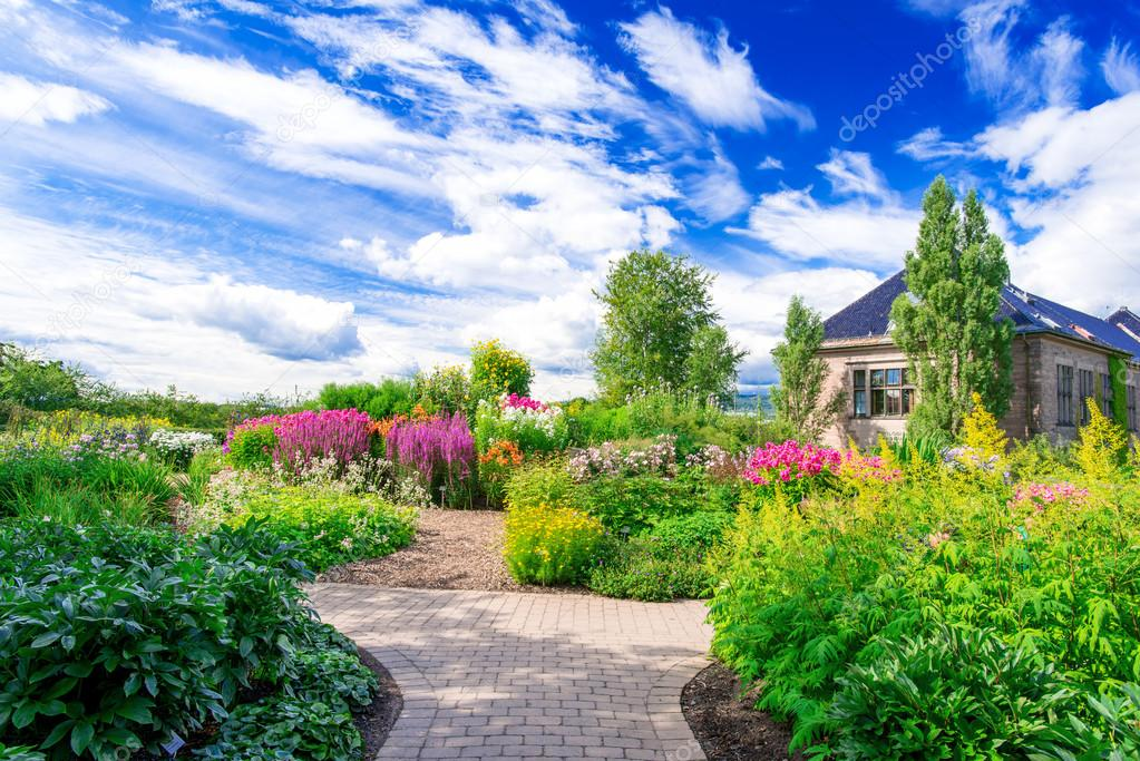 Flowerbed at Botanical garden