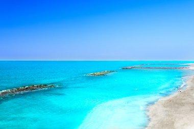 Beautiful sea water of tropical beach at spring