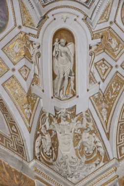 Ceiling in the hall of Vatican museums