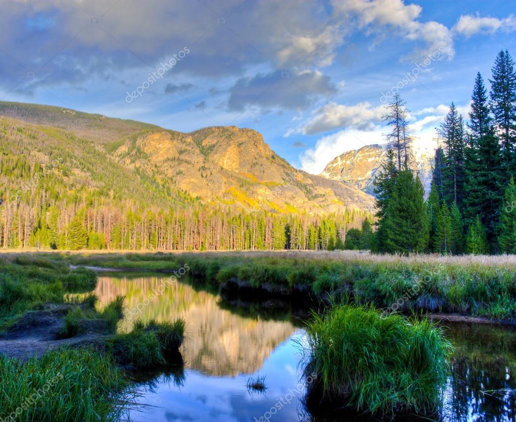 Mountain lake landscape..