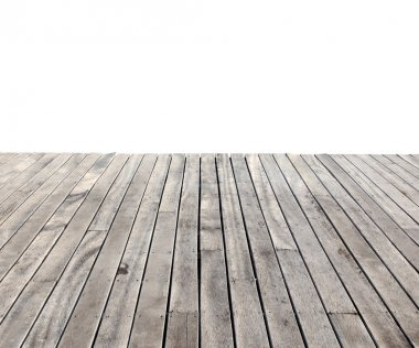 empty wooden floor isolated on white