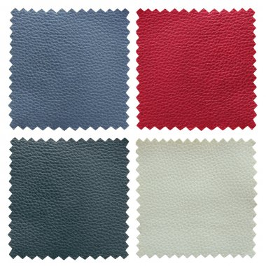 set of leather samples texture