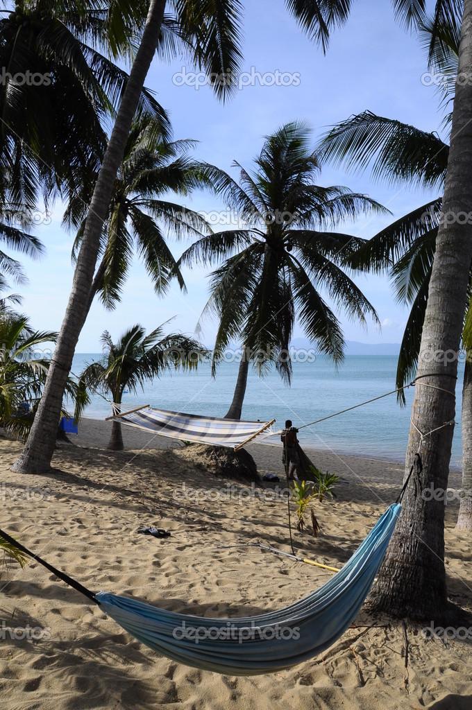 Sandy beach in koh samui, Thailand