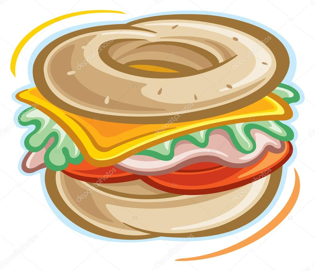 bagel sandwich stock vectors royalty free bagel sandwich rh depositphotos com Bagel Sandwich Ideas Bagel Sandwich Ideas