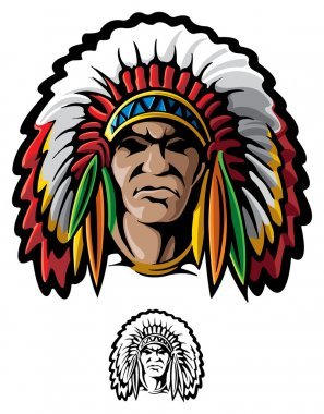 Indian chief stock vector