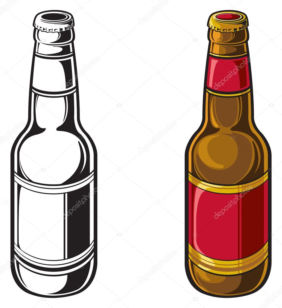 beer bottle stock vector slipfloat 21519003 rh depositphotos com vector beer bottle free beer bottle vector illustrator
