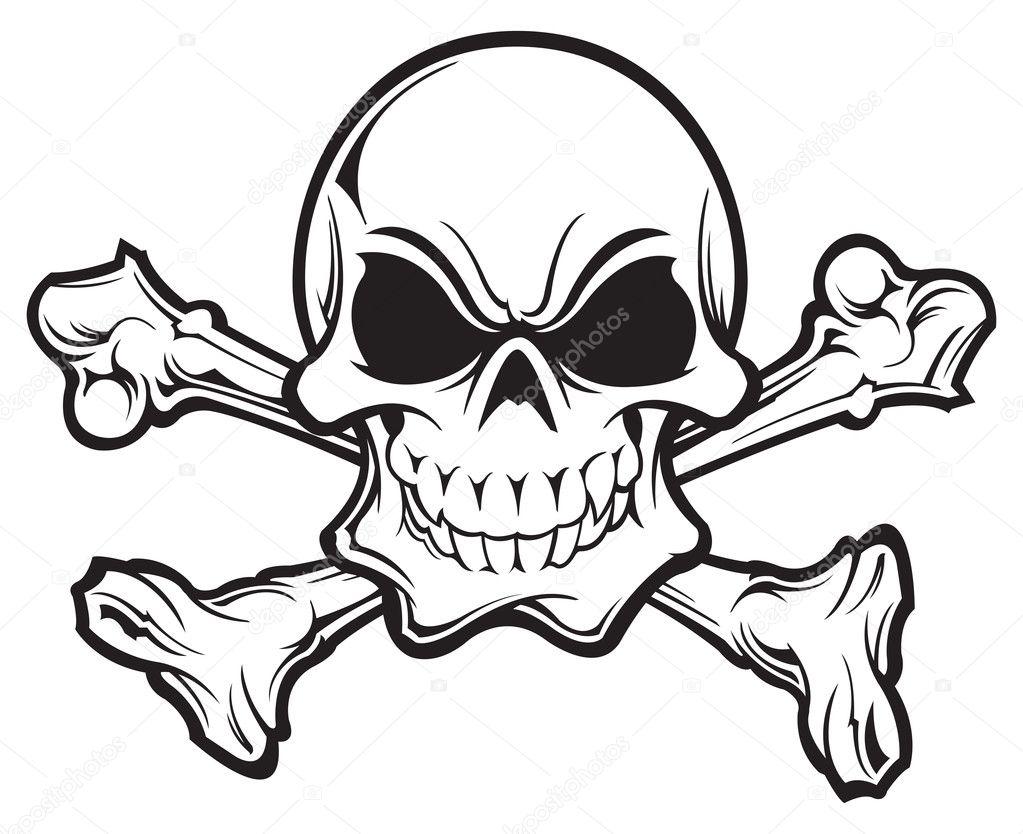 skull and crossbones stock vector slipfloat 21519431 rh depositphotos com skull and bones vector free download skull and crossbones vector free