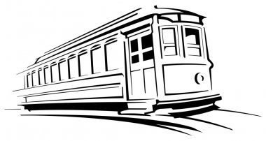 Trolley car stock vector