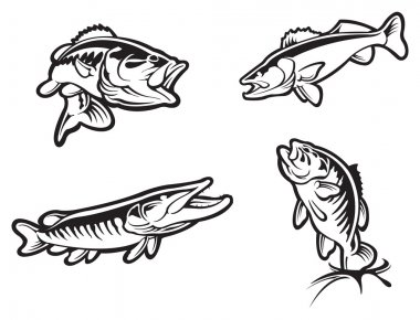 Fishing clip art vector