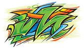 Fotografia illustrazione vettoriale di graffiti art