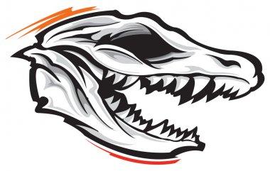 Vector illustration of Dinosaur skull